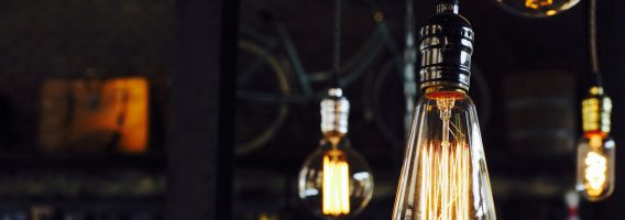 Decorative light bulbs in modern style